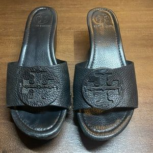 Tory Burch Black Patti Sandals - 8.5